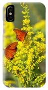Gulf Fritilaries On Golden Rod IPhone Case