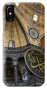 Hagia Sophia Interiour  IPhone Case
