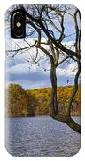 Hall Lake In Autumn No 0118 IPhone Case