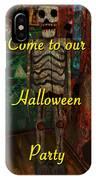 Halloween Party Invitation - Skeleton IPhone Case