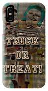Halloween Trick Or Treat Skeleton Greeting Card IPhone Case