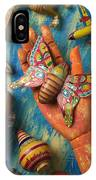 Hand Holding Butterfly Toy IPhone Case