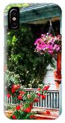 Hanging Baskets And Climbing Roses IPhone Case