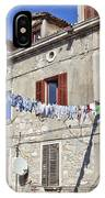 Hanging Out To Dry In Rovinj IPhone Case