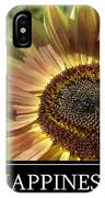 Happiness Peach Sunflower IPhone Case