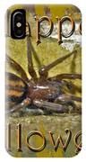 Happy Halloween Spider Greeting Card IPhone Case