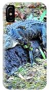Hard Day In The Swamp - Digital Art IPhone Case