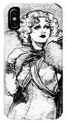 Harlow Black And White IPhone Case
