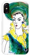 Hat Lady 16 IPhone Case