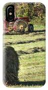 Hay Bale And Tractor IPhone Case