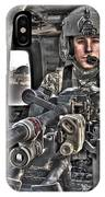 Hdr Image Of A Uh-60 Black Hawk Door IPhone Case