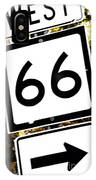 Heading West On Route 66 IPhone Case