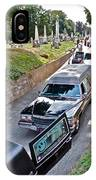 Hearses At Laurel Hill Cemetery IPhone Case