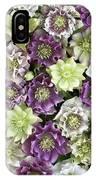Hellebore Helleborus Sp Flowers IPhone Case