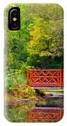 Henes Park Pond Bridge IPhone Case