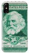 Henry W Longfellow Postage Stamp IPhone Case