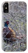 Hiding Pheasant IPhone Case