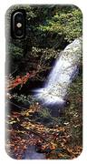 High Angle View Of A Waterfall, Glenoe IPhone Case