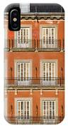 Historic Facade At Plaza Mayor In Madrid IPhone Case