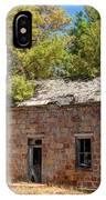 Historic Ruined Brick Building In Rural Farming Community - Utah IPhone Case
