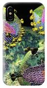 Hiv Three Sectioned Virions On Black IPhone Case