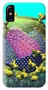 Hiv Virion Translucent On Blue IPhone Case