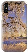 Hoar Frost On Tree, Milton, Prince IPhone Case