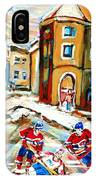 Hockey Art Hockey Game Plateau Montreal Street Scene IPhone Case