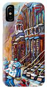 Hockey Art Montreal Streets IPhone Case