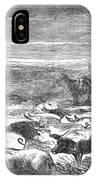 Hog Driving, 1868 IPhone Case