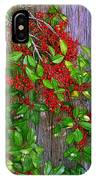 Holly Berries IPhone Case