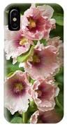 Hollyhock (alcea Rosea) IPhone Case