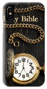 Holy Bible Pocket Watch 1 IPhone Case