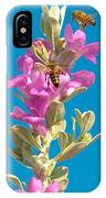 Honey Bees On Sage 1 IPhone Case