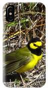 Hooded Warbler IPhone Case