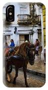 Horse And Buggy In Old Cartagena Colombia IPhone Case