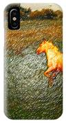 Horse Frolicking IPhone Case