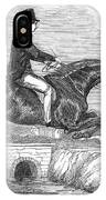 Horse-jumping, 1852 IPhone Case