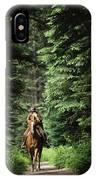 Horseback Riding On An Emerald Lake IPhone Case