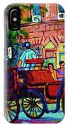 Horsedrawn Carriage IPhone Case