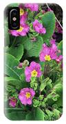 'hose-in-hose' Primroses IPhone Case