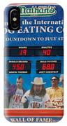 Hotdog Eating Contest Time IPhone Case
