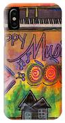 House Of Happy Music IPhone Case