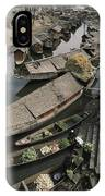 Houseboats Line A Waterway IPhone Case