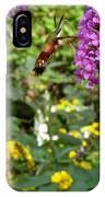 Hummingbird Moth In Flight  IPhone Case