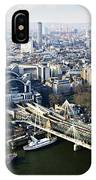 Hungerford Bridge Seen From London Eye IPhone Case