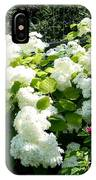 Hydrangeas And A Rose IPhone Case