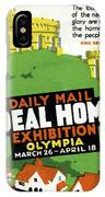 Ideal Home Exhibition Stamp, 1920 IPhone Case
