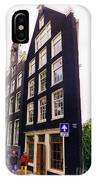 Illusion Of A Two Dimensional Building In Amsterdam IPhone Case