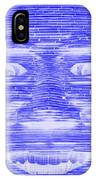 In Your Face In Negative Blue IPhone Case
